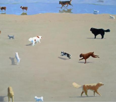 Rob Dieboll populates his beaches with dogs and their human companions.